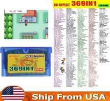 369 in 1 Multicart GBA Game Boy Advance SP Pokemon Mario DK Collection Gifts US