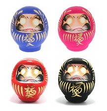 "Set of 4 Japanese 3.75""H Daruma SUCCESS NO EVIL ACHIEVEMENT LOVE Made in Japan"
