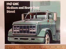1967 GMC Diesel Medium/Heavy Duty - Original Color Dealer Sales Brochure - (CDN)