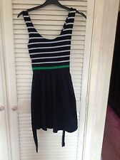 Ladies Brand New (without tag) Navy & White Stripped Sun Dress Size S/M