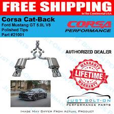 CORSA SPORT Cat-Back Polished Tips for 2018-2019 Mustang GT Fastback 5.0L #21001