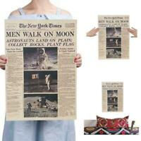 New Post Daily Newspaper Men Walk on Moon Apollo 11 Moon Decor Landing Pict X8V9