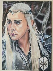 Cryptozoic The Hobbit BOTFA Sketch Card #6 Thranduil by Marcia Dye