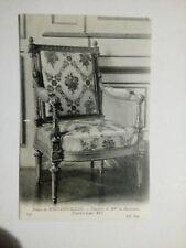 Cpa palais de FONTAINEBLEAU chambre de Mme de MAINTENON fauteuil LOUIS XVI ND