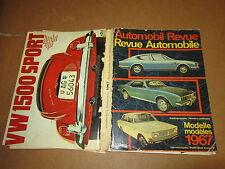 AUTOMOBIL REVUE 1967 PUBBLICAZIONE ANNUALE