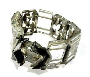 Bijou superbe bracelet moderniste créateur Anne-Marie Chagnon verre soufflé