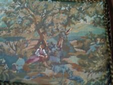 "Vintage Russian ? Very Long WALL TAPESTRY Gobelin 56'"" x 17''  WOMEN  TREES LAKE"