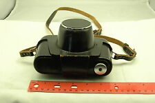 Minolta Vintage Genuine Leather Black Hard Camera Cover Case Strap 5.5x 4 x 1.5""