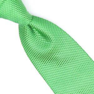 NWT Charles Tyrwhitt Walker Woven Lime Cheveron Tie TW035LGN