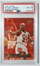 1995 Ultra 3 Michael Jordan Double Trouble PSA 8 NM-MT