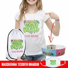 T Shirt Maglietta + braccialetto + sacca zaino Me Bambina Contro Te personalizza