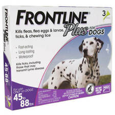FRONTLINE Plus Flea & Tick Treatment for Large Dogs (45-88 Pounds) - 3 doses