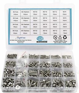 Stainless Steel Metric Nuts Bolts And Washers Assortment Pack Standard PVC Box