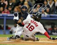 "Jorge Posada New York Yankees Signed 8"" x 10"" 2004 ALCS Tagging Damon Photo"