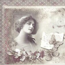 3 Servietten Vintage Foto - Serviettentechnik Basteln Decoupage Scrap - Spruch