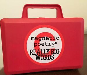 MAGNETIC POETRY FOR KIDS REALLY BIG WORDS Used Vintage 90's over 130 pieces case