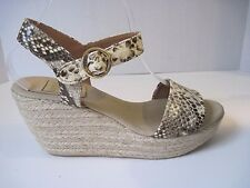 KANNA Snakeskin Leather Wedge Sandals ~ Made in Spain Size 39, Excellent