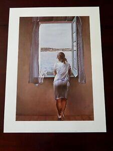 Salvador Dali - Girl in Window / Figura en una Finestra, Plate Signed Dated 1925