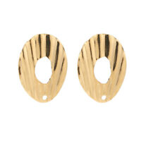 Newest 10pcs Gold Stainless Steel Geometric Earring Accessories DIY Earring Post