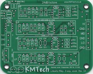 LR mono 3-way active filter by KMTech v1.4 PCB DIY BALANCED/UNBALANCED INPUT