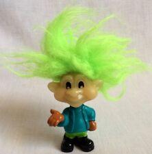 1993 Burger King Glow in the Dark Troll Doll Green Hair Kids Club Jaws