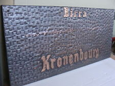 INSEGNA BIRRA KRONENBOURG BEER OLD SIGN BAR BIRRERIA PUB EPOCA