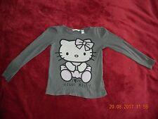 Hello Kitty Mädchen Pullover gr. 134 Top Zustand in Grau