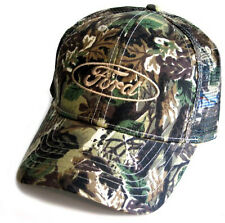 Ford Oval Licensed Cotton Polyester Mesh Camo Hat
