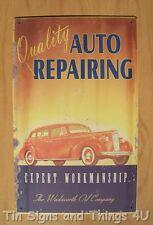 Quality Repair Wadsworth Oil TIN SIGN metal antique vtg auto garage wall decor