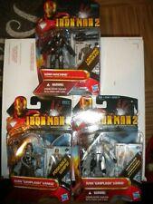"WAR MACHINE WHIPLASH IRON MAN 3.75"" Action Figures Iron Man 2 MOVIE SERIES Lot"