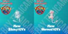 MEW ✨SHINY✨ NON-SHINY PERFECT 6IV LV 1/100 - POKEMON LETS GO PIKACHU AND EEVEE