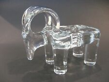 Vintage KOSTA BODA Modernist Ram or Goat Candle Holder Scandinavian Art Glass