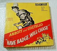Vintage 8mm Abbott & Costello, Castle Films, Have Badge Will Chase, #850