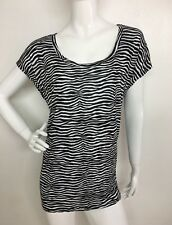 c72e813871e29 Top 2x Plus Michael Kors Women s Zebra Print Cap Sleeve Stretch Mc970