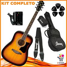 KIT Completo Chitarra Acustica IBANEZ 6 corde borsa custodia accordatore tracoll
