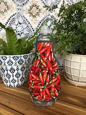 Chili Peppers Mexican Thai Kitchen Lotion Dish Soap Bottle Apron - fits 32 oz.