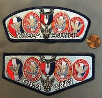 GILA OA LODGE 378 YUCCA COUNCIL TX 2010 EAGLE SCOUT SERVICE FLAP AND CSP 2-PATCH