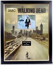 Andrew LINCOLN SIGNED & Framed Walking Dead Display AFTAL RD COA Rick GRIMES