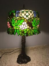 Massive 28 inch Tiffany Style Table Lamp/Side Lamp/Desk Light.