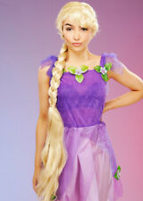 Womens Deluxe Long Blonde Rapunzel Wig