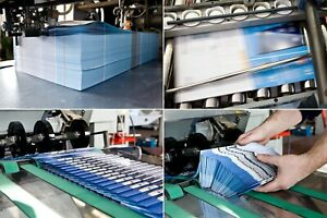 1.000 Flyer Druck, DinLang hoch, 135g/m² glänzend, beidseitig, drucken lassen