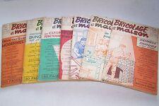 Lot de 7 magazines Bricolage et Maison couverture Tillieux 1953/54 en bel état