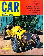 """CAR CLASSICS""  (VOL. 1 / NO. 3)  ~ AUGUST 1967 ~  *** VINTAGE ISSUE ***"