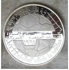 1991 Saharawi  Large silver  Proof 500 P-Soccer(Football) World Cup Soccer USA