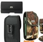 Apple iPhone Reiko Rugged Leather Holster Pouch With Metal Belt Clip Heavy Duty