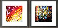 Modern Art. Plexiglass cover with black wooden frame. Special Offer set of 2