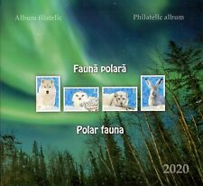 Romanian 2020 Polar Fauna Album 225 ex!! Arctic fox hare wolf snowy owl birds
