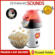 Russell Hobbs 24630 1300 Watts Popcorn Maker Electric Hot Air, Lid/Spoon No Oil