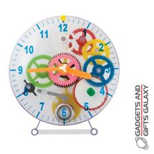 Make Your Own Mechanical Clock In Clear Plastic Case Discovery Toy Gift Childs