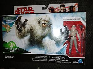 """Star Wars Wampa & Luke Skywalker 3.75"""" Figure Set E1689/E0325 Force Link 2.0"""